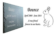 Bunny Rabbit Memorial Slate Plaque, Personalised with Any Message
