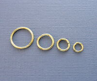 5-6-8-10-14-16 mm Gold plated opened Jump rings connectors jewelry findings DIY
