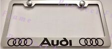 AUDI Stainless Steel License Plate Frame Rust Free W/ Bolt Caps