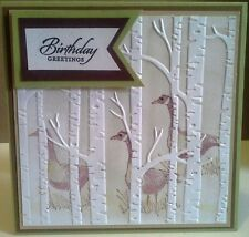 Stampin Up! Woodland Textured Textured Impressions Embossing Folder –  New
