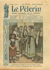 WWI Costume Romania Alsace-Lorraine Place de la Concorde Paris 1917 ILLUSTRATION