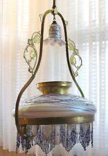 Originale Jugendstil Gasdeckenlampe mit Pallme & König Schirm und Rußsperre