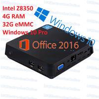 T11 Windows 10 Mini Desktop PC Media Player TV Box 4GB/64GB/1TB HDD WIFI BT