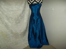 Roberta size 3/4 blue off shoulder formal with caped lined dress