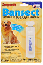 3 Pk Sergeants Bansect Dog Flea Tick Control 3 Month Supply Over 33 Pounds