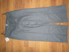 Tu womens wool grey loose fit trousers size 10S