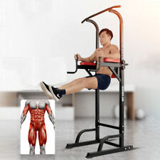 Pull Up Dip Station Power Tower Bar Strength Training Workout Equipment Home Gym