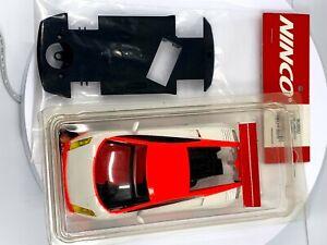 Ninco 80864 Prorace Lamborghini Gallardo White Body with 80860 Stock Chassis