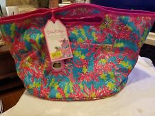 Lilly Pulitzer Oversized Insulated Beverage Bucket Trippin Sippin Eva Beach Tote