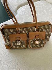 NWOT Dooney & Bourke Leather Monogram Satchel w/ Double Pocket Satchel Handbag
