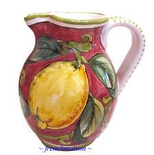 Italian Handmade Handpainted WINE WATER PITCHER Jug Tuscan Country Ceramic New