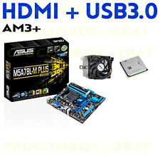 AMD FX-8370 EIGHT CORE CPU+ASUS M5A78L-M PLUS HDMI USB3 DDR3 AM3+ Motherboard