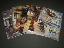2007-2008 KITCHEN & BATH DESIGN NEWS MAGAZINE LOT OF 7 - GREAT COVERS - PB 910