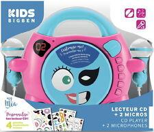 Bigben tragbarer CD Player CD59 Girl My Mia pink Kinder 2 Mikrofone AU355260