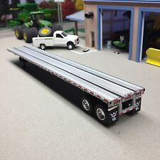 1/64 DCP SILVER TANDEM AXLE FLATBED