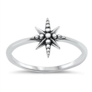 Oxidised 925 Sterling Silver North Pole Star Polaris Ring J L N P R T