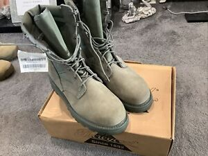 NEW US ARMY AIR FORCE Hot Weather Steel Toe COMBAT BOOTS. SAGE. UK 10.5