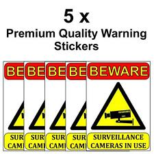 BEWARE SURVEILLANCE CAMERAS IN USE VINYL STICKER 50mm x 70mm Decal Sign Security