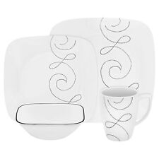 Corelle square endless threads 16PC dinnerware set paypal