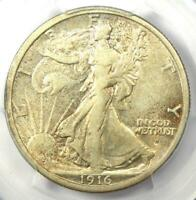 1916-D Walking Liberty Half Dollar 50C Coin - Certified PCGS XF45 - Rare Date!