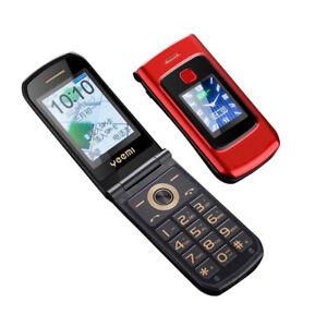 1Pcs Dual-Screen Flip Mobile Phone Dual Sim GSM Senior Big Push-Button Phone