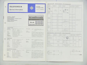 Telefunken Service Information partner compact 101L Schaltplan Lagepläne Sevice