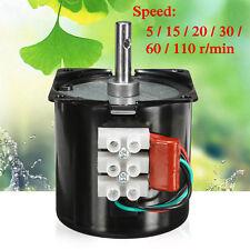 220V 14W velocidad reducir alto esfuerzo de torsión 50Hz Caja de cambio un motor síncrono de engranaje 60 KTYZ