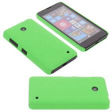 Funda para Nokia Lumia 630 Carcasa teléfono móvil cristal claro Terciopelo Verde