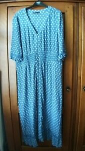 WOMANS  PRETTY BLUE M&S DRESS -  SIZE 18