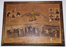 GEORGE WOOLF Signed Vintage Hollywood Park Gold Cup SEABISCUIT Wood Plaque BAS
