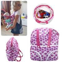 "Kid Backpack & Doll Carrier Bag for 18"" American Girl & 43cm Baby Born Zapf Doll"