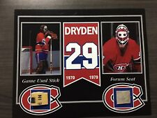 KEN DRYDEN MONTREAL CANADIENS GAME USED STICK AND FORUM SEAT 8 X 10 COA