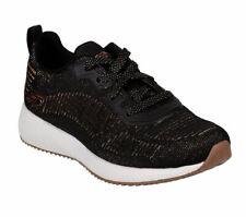 Skechers Bobs Sport Bobs Squad Glamour Liga Zapatillas Zapatos Mujer Negro