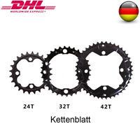 42/32/24T 104/64mm BCD MTB Fahrrad Kurbelgarnitur 3x10S Triple Speed Kettenblatt