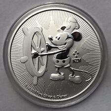 2017 Niue Steamboat Willie 1 oz (environ 28.35 g) .999 Silver Bullion Coin