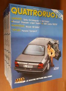 Quattroruote, annata 1990 completa, letta solo una volta e collezionata