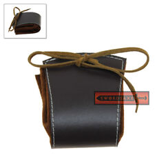 Medieval Leather Drawstring Coin Purse Renaissance Money Bag Rogue's Belt Pouch