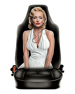 Marilyn Monroe style car seat cover Made in Italy microfiber car accessories