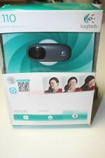 NEW Logitech C110 Web Cam; Plug & Play Installation; Fluid Crystal Technology