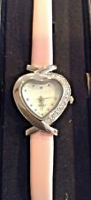 Avon Women's Classic Heart Watch Pink Band and Cubic Zirconia
