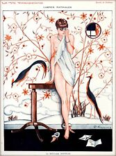 1920s La Vie Parisienne La Mauvaise Nouvelle Girl France French Travel Poster