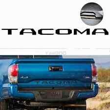 Matte Black Tailgate Letters Insert 3D Plastic Sticker For TOYOTA TACOMA 14-2018