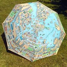 Folding Umbrella Sydney Australia City Map Landmarks Attractions Novelty Design