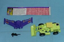 original G1 Transformers SCRAPPER 100% COMPLETE with tech spec Devastator