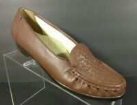 Softspots Shoes Loafers Women's Size 8.5 Brown Leather Slip On Shoes