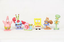 Set of 6pc SpongeBob Squarepants Cartoon Action Figure Playset Toys - USA SELLER