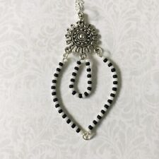 Celtic Charm & Beaded Pendant Necklace - NEW