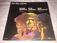 Burt Bacharach SIGNED On The Move LP Album Hal David PROOF