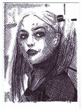 Aceo sketch card margot robbie comme harley quinn de suicide squad film