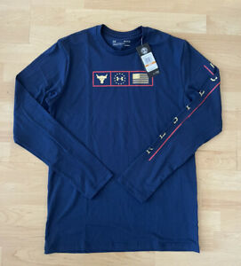 Under Armour Men's S Project Rock Respect Graphic Long Sleeve Shirt 1346108-408